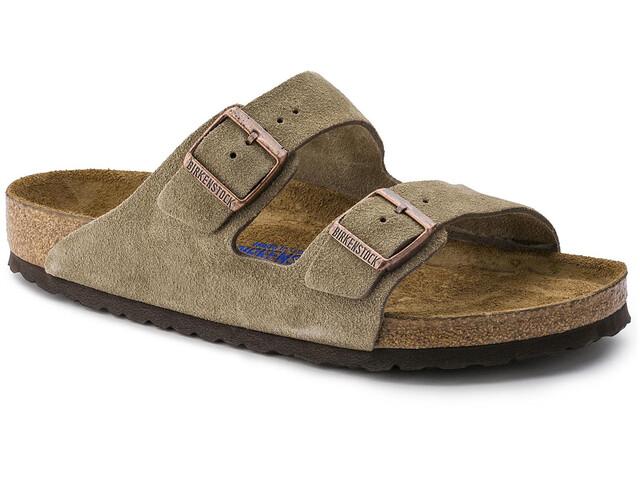 Birkenstock Arizona Sandals Suede Leather Soft Footbed Regular taupe